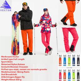 Warm Waterproof Pants Men Australia - VECTOR Professional High Quality Winter Ski Pants Men Women Warm Waterproof Snow Skiing Snowboard Pants Outdoor Trousers