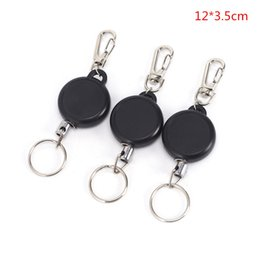 freeshipping yoyo NZ - 1Pcs Retractable Keychain Badge Reel Recoil Yoyo Ski Pass ID Card Holder Key Ring Key Chain 12*3.5cm