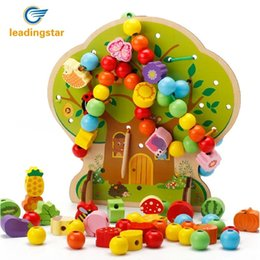$enCountryForm.capitalKeyWord NZ - RCtown Children Wood String of Beads Toy Colorful Building Blocks Educational Intellectual Development Toy SH190908