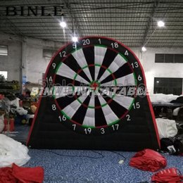 $enCountryForm.capitalKeyWord Australia - High quality exciting 3mH inflatable football dart board game inflatable soccer darts with free balls sets for sale