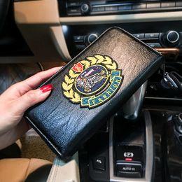 Medium Zipper Wallets Australia - Tidog Large medium and fashion leather long wallet