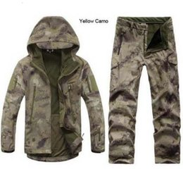 shark shell jacket Australia - Camouflage Hunting Clothing Shark Skin Soft Shell Lurker Tad V 4.0 Outdoor Tactical Military Fleece Jacket + Uniform Pants Suits T190919