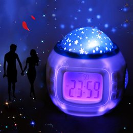 Ball clocks online shopping - Children Gifts Music Starry Star Snooze Digital Led Projector Alarm Clock Calendar Thermometer Relogio De Mesa despertador