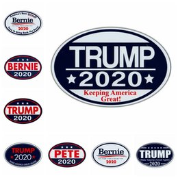 $enCountryForm.capitalKeyWord Australia - Trump Fridge Magnets Stickers 8 Styles 14x9x0.1cm Keep America Great US Presidential Election Trump Supporter Home Decoration 100pcs OOA7129
