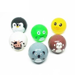 Discount gashapon toys wholesale - 2019 1pcs new fashion childres toys Mixed 5CM Capsule Ball Plastic Cartoon animal gashapon car ornament storage box craf