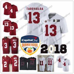 43e01c280 Alabama Crimson Tide  13 Tua Tagovailoa 2018 NCAA Orange Bowl White Jersey  2 Jalen Hurts 4 Jerry Jeudy 11 Henry Ruggs Red Champions