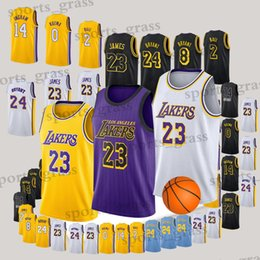 333ebc8c3 Los Angeles Jersey Laker LeBron 23 James Kobe 24 Bryant Kyle 0 Kuzma Lonzo  2 Ball Brandon 14 Ingram Jerseys Adult Kid 2019 new