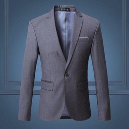 Wholesale colors new men s blazer casual business Slim solid color suit jacket men s wedding jacket evening dress coat large size XL