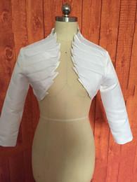 $enCountryForm.capitalKeyWord Australia - High end customization Real Images 3 4 Long Sleeve Satin Wedding Jackets Bridal Wraps For Women Party Dress Gowns Bolero Jacket Bridal Acces