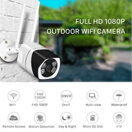 outdoor wireless ip network camera Australia - WIFI IP Camera 1080P HD 2.0MP Wireless Network Camera Onvif Night Vision Waterproof Camera Home security video surveillance CCTV camcorder