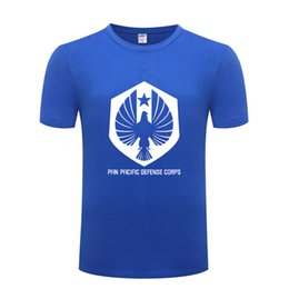 Cool T Shirts Men Australia - PPDC Logo Pacific Rim Pan Pacific Defense Corps T Shirts Men Short Sleeve O Neck Cotton Man T-Shirt Cool Funny Top Tee