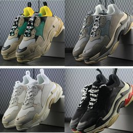 Table Tracks online shopping - Paris FW Fashion Luxury Designer Dad Shoes Triple S Men Women Casual Shoes Track Sneakers espadrilles Chaussures de sport pour hommes