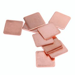 laptop pad copper Canada - omputer & Office 10pcs 15mmx15mm 00.1 0.2 0.3 0.4 0.5 0.8 1.0 1.2 1.5 1.8mm Thick Heatsink Copper Shim Thermal Pads for Laptop IC Chipset...
