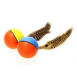 rolling pets toys Canada - Rolling Chasing Interactive Toy Pet Cat Dog Toys Electric Teaser Ball Weasel Activation Ball Kids Pets Funny Beaver Toy #27