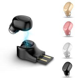 $enCountryForm.capitalKeyWord Australia - X11 Small Wireless Bluetooth Earphone USB Magnet Invisible Hidden Headphone In Ear Earpiece Handsfree With Mic For Smartphone