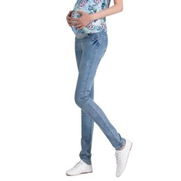 christmas clothes plus sizes Canada - Denim Maternity Jeans Plus size Elastic waist Long Trousers pants for Pregnant women Pregnancy clothes ropa embarazada leggings