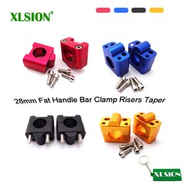 cnc clamps Australia - XLSION CNC Aluminum 28mm Fat Handle Bar Clamp Risers Pit Dirt Bike Motocross ATV Quad