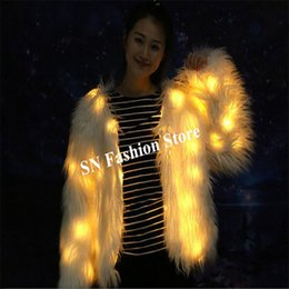 8a139706065 M60 Ballroom dance led costumes yellow light luminous dj coat party stage  show wears clothe outfits glowing fur coat ds disco dj coat disco