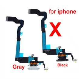 Iphone Dock Connector Australia - Original Charging Flex Cable For iPhone X USB Charger Port Dock Connector With Mic Flex Cable