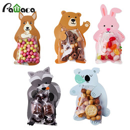 $enCountryForm.capitalKeyWord Australia - 10pcs lot Cute Animal Bear Rabbit Candy Cookie Bags Gift Bags Greeting Cards Baby Shower Birthday Party Packaging Candy Box