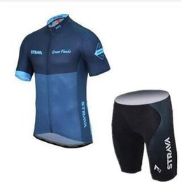 $enCountryForm.capitalKeyWord Australia - 2019 STRAVA team Short Sleeves jersey (bib) shorts sets Men's Bicycle Jersey Outdoor Sports Suit Riding Jersey Breathable