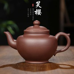 Home & Garden Painted Mud Half-moon Pot Kungfu Teapot And Tea Set In The Original Mining Section By Hand Kitchen,dining & Bar Purple Clay Pot Artist