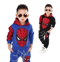 tee shirt costume kid 2020 - 2019 Kids Spiderman Cosplay Clothing Sets Children Costume Fashion Cartoon Summer Shirt Pants Boys Tees Pants Suit SH190