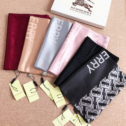 $enCountryForm.capitalKeyWord Australia - 6 colors fashion classic brand scarf men's and women's letter brand scarf warm and comfortable silk cotton scarf Christmas gift first choice