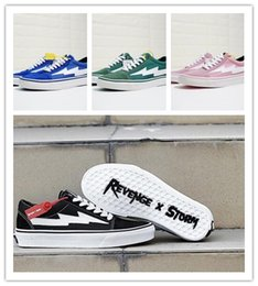 Spring Fall Canvas Shoes Australia - New Revenge x Storm Black Casual Shoes Kendall Jenner best Footwear Ian Connor Old Skool Fashion Current Designer Shoes Canvas sneaker
