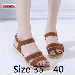 $enCountryForm.capitalKeyWord Australia - 2019 new flat bottom summer Korean versatile casual elastic Roman student shoes and maternity soft soles