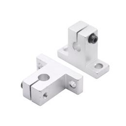4pcs lot SK8 SK10 SK12 SK16 SK20 SK25 SK30 SK35 8mm linear bearing rail shaft support XYZ Table CNC Router SH8A 3D printer Part on Sale