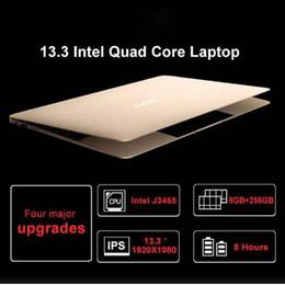 Gold Gp 18 Australia - cuerpo de Metal portátil de 13,3 pulgadas con 6G RAM 64 128 256 512G 1 TB SSD intel j3455 ordenador portátil portátiles de juegos ultrabook