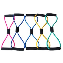 Body Elastic Belt Australia - 1pc 8 Shaped Elastic Tension Durable Rope Chest Expander Sport Fitness Yoga Pilates Belt Body Shape Random Health Care