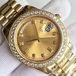 $enCountryForm.capitalKeyWord Australia - Men's Watch DATE-218348A Series 18K Gold Dial Diamond Inlay Automatic Mechanical Watch President Strap Original Folding Buckle Sells World