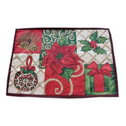 $enCountryForm.capitalKeyWord UK - Christmas Kitchen Tool Home Decor Reusable Elegant Tapestry Holiday Party Placemat Poinsettia Embroidery European Table Runner