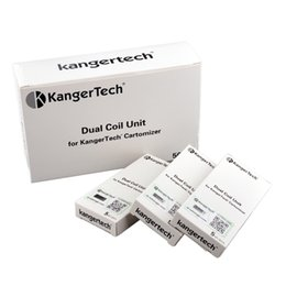 kangertech evod atomizer Canada - Authentic Kanger Upgraded Dual Coil Head for Kangertech Aerotank Mega Mini Protank 3 Evod Glass 2 T3D Atomizer 100% Original