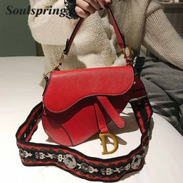 Saddle Bag 2018 Autumn And Winter New Hot Sale PU Leather Female Luxury  Brand Shoulder Bag Crossbody Big Strap Handbag Sac a43394127b703