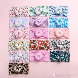 christmas headbands for infants Australia - New!16 Colorful Baby Girl Nylon Flower Print Headband fashion Super soft Bohemia Donut Hair Band For Girl Infant Hair Accessories