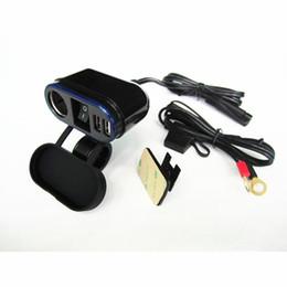 12v Dc Power Socket Australia - For Motorcycle 22-25mm Handlebar Dual USB Charger Adapter With DC 12V Power Socket and on-off switch Cigarette Lighter socket