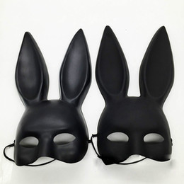 $enCountryForm.capitalKeyWord NZ - Black Mark Women Sexy Girl Bunny Ears Cute Rabbit Mask Long Ears Mask Halloween Masquerade Party Cosplay Costume