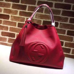 $enCountryForm.capitalKeyWord Australia - Luxury Quality Top Brand Design Letter Embossing Tassel Shopping Tote Bag Women Genuine Leather 282308 Xxl Handbag