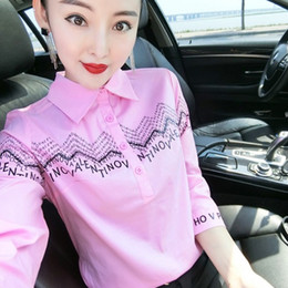 Wholesale pink silk blouse long sleeve for sale - Group buy Vintage Silk Satin Printed Spring Shirts Women Long Sleeve Lapel Neck Ladies Runway Blouse Plus Size Office Designer Button Shirt Tops