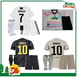 85ac340e7 18 19 Juventus RONALDO Kids Kit 2018 EMRE CAN HIGUAIN Juve boy Kids Soccer  Jersey DYBALA Children Football Uniform PJANIC MANDZUKIC Youth