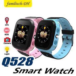 $enCountryForm.capitalKeyWord Australia - Q528 Children Wrist Watch Waterproof Baby With Remote Camera SIM Calls Smart Watch Gift Monitor SOS for Baby PK Q50 SmartWatch