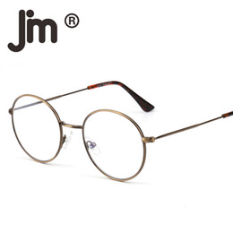 8f0d4f3ef Retro Round Computer Reading Glasses Metal Circle Frame Gaming Eyeglasses Anti  Blue Light Lens for Digital Screen UV400