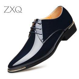 $enCountryForm.capitalKeyWord Australia - 2018 Newest Men's Quality Patent Leather Shoes Zapatos de hombre Size 38-47 Black Leather Soft Man Dress Shoe