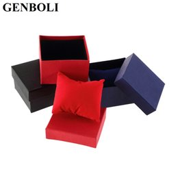 jewelry dropshipping Australia - GENBOLI Red Black Blue Gift Boxes Practical Jewelry Box for Bracelet Bangle Paper Watch Case for Wholesales Dropshipping &7