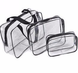 $enCountryForm.capitalKeyWord Australia - Transparent Pvc Cosmetic Bag Women Travel Makeup Zipper Make Up Organizer Storage Pouch Toiletry Wash Kit Case