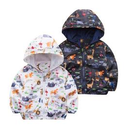 Boys Dinosaur Jacket Australia - good quality Dinosaur Boys Girls Spring Autumn Jacket Cute Wind Proof Kids Coat Children's Clothing