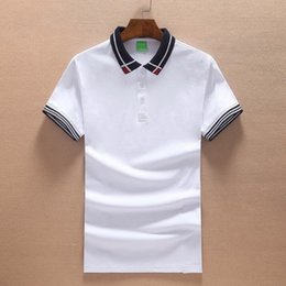 Tshirt Polos Australia - Brand Designer Polos for Men Poloshirt Letter Embroidery Summer Tshirt Short Sleeve Shirt Classic Business Office Blouse M-2XL